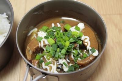 さば味噌煮+マヨネーズ+ねぎ