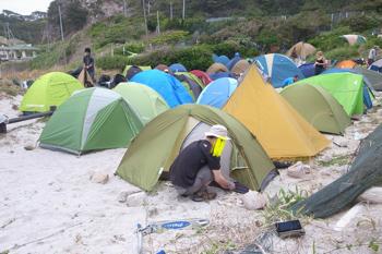 楽しい式根島キャンプ場