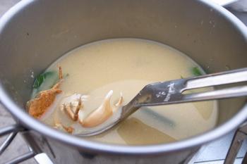 カニの味噌汁。