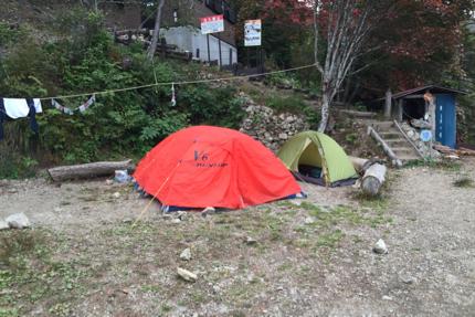 七ツ石小屋テン場