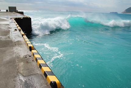 波がすごい。