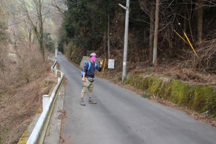 海沢林道を歩いてるよ。