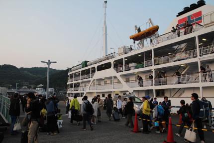 無事伊豆大島に到着。