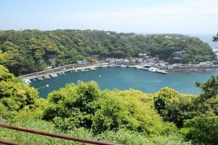 波浮港を一望出来ます。