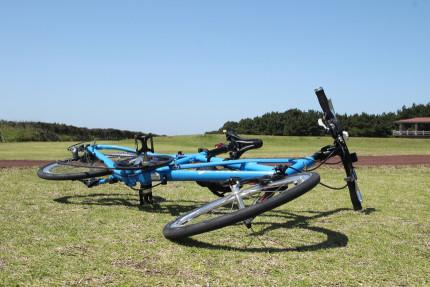 伊豆大島は自転車の天国じゃあ。
