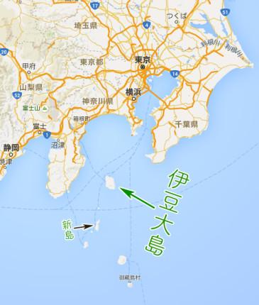 伊豆大島の位置。