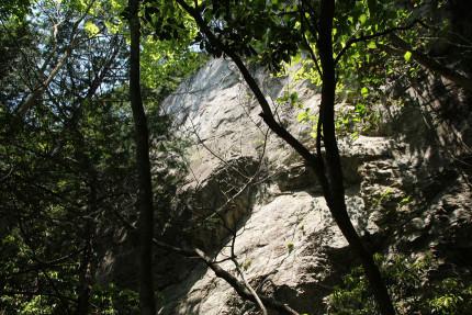 岩の質感。