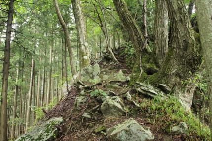 露岩帯の通過