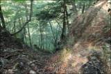 すり鉢状の崖